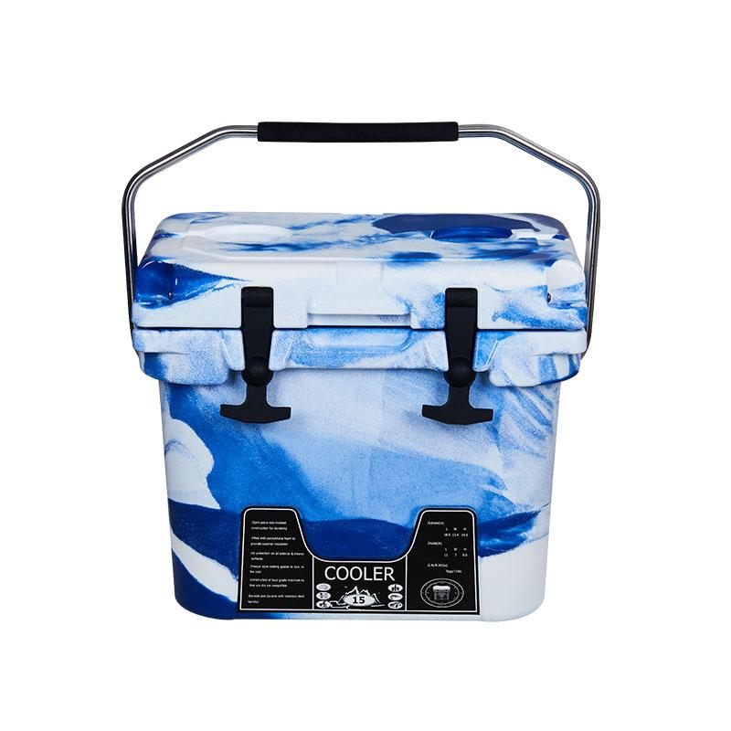 15L迷彩蓝滚塑冷链箱